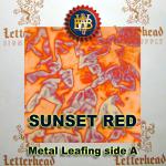 Variegated Metal Leaf-Sunset Red 20 book Pack