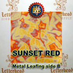 Variegated Metal Leaf-Sunset Red book