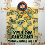 Variegated Metal Leaf-Yellow Diamonds 20 Book Pack