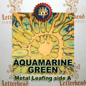 Aquamarine Green Variegated Metal Leaf