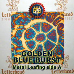 Blueburst Variegated Metal Leaf