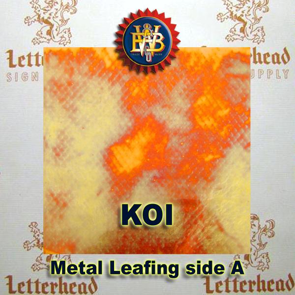 Variegated Metal Leaf-Koi Red 20 Book Pack
