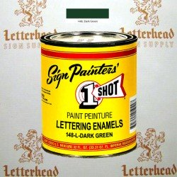 1 Shot Lettering Enamel Paint Dark Green 148L - Quart