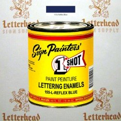 1 Shot Lettering Enamel Paint Reflex Blue 155L - Pint