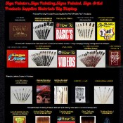 Sign Painters,Sign Painting,Signs Painted Supplies Materials