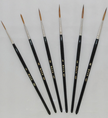mack brush series 127 sable script scroll liner brushes