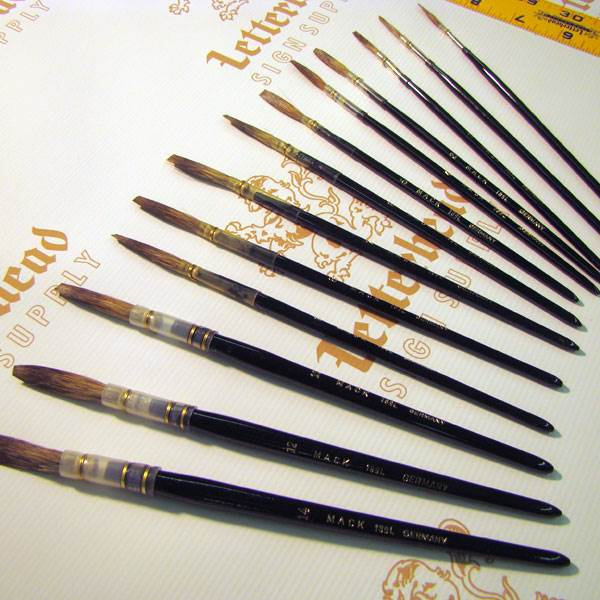 sign painting brushes sign painter lettering brushes With lettering quill brushes
