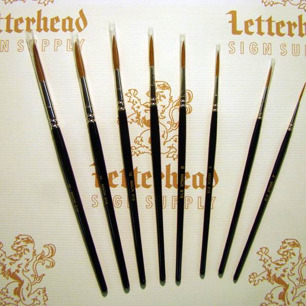 Sign painting brushes sign painter lettering brushes for Luco lettering brushes